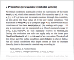 Properties [of example symbolic system]