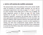 Active cell motion [in mobile automata]