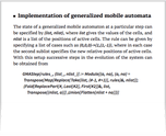 Implementation of generalized mobile automata