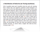 Distribution of behavior [in Turing machines]