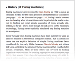 History [of Turing machines]