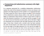 Connections [of substitution systems] with digit sequences