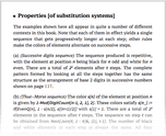 Properties [of substitution systems]