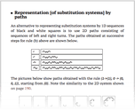 Representation [of substitution systems] by paths