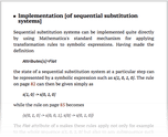 Implementation [of sequential substitution systems]