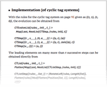Implementation [of cyclic tag systems]