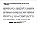Mechanical implementation [of cyclic tag systems]