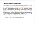 Halting [of register machines]