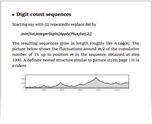 Digit count sequences