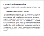 Iterated run-length encoding