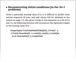 Reconstructing initial conditions [in the 3n+1 problems]