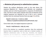 Relation [of powers] to substitution systems