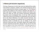 History [of recursive sequences]