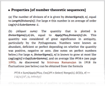 Properties [of number theoretic sequences]