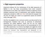 Digit sequence properties