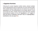 Egyptian fractions
