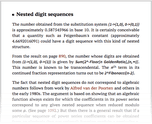 Nested digit sequences