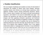 Number classification