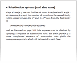 Substitution systems [and sine sums]