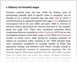 History of iterated maps