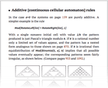 Additive [continuous cellular automaton] rules