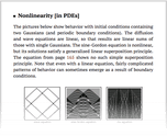Nonlinearity [in PDEs]
