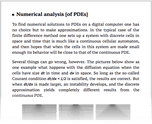 Numerical analysis [of PDEs]