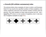 Growth [2D cellular automaton] rules