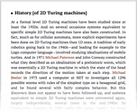 History [of 2D Turing machines]