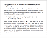 Connection [of 2D substitution systems] with digit sequences
