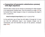 Connection [of geometric substitution systems] with digit sequences