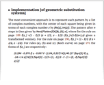 Implementation [of geometric substitution systems]