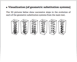 Visualization [of geometric substitution systems]