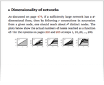 Dimensionality of networks