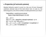 Properties [of network systems]