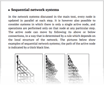 Sequential network systems