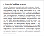 History [of multiway systems]