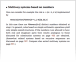 Multiway systems based on numbers