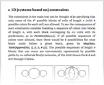 1D [systems based on] constraints