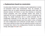 Explanations based on constraints