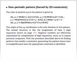 Non-periodic pattern [forced by 2D constraint]