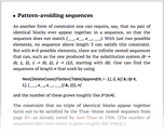 Pattern-avoiding sequences