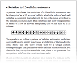 Relation to 1D cellular automata