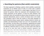 Searching for patterns [that satisfy constraints]