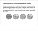 Frequencies of [cellular automaton] classes