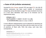 Game of Life [cellular automaton]