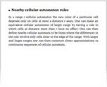Nearby cellular automaton rules