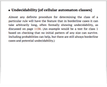Undecidability [of cellular automaton classes]
