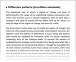 Difference patterns [in cellular automata]