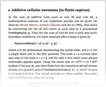 Additive cellular automata [in finite regions]